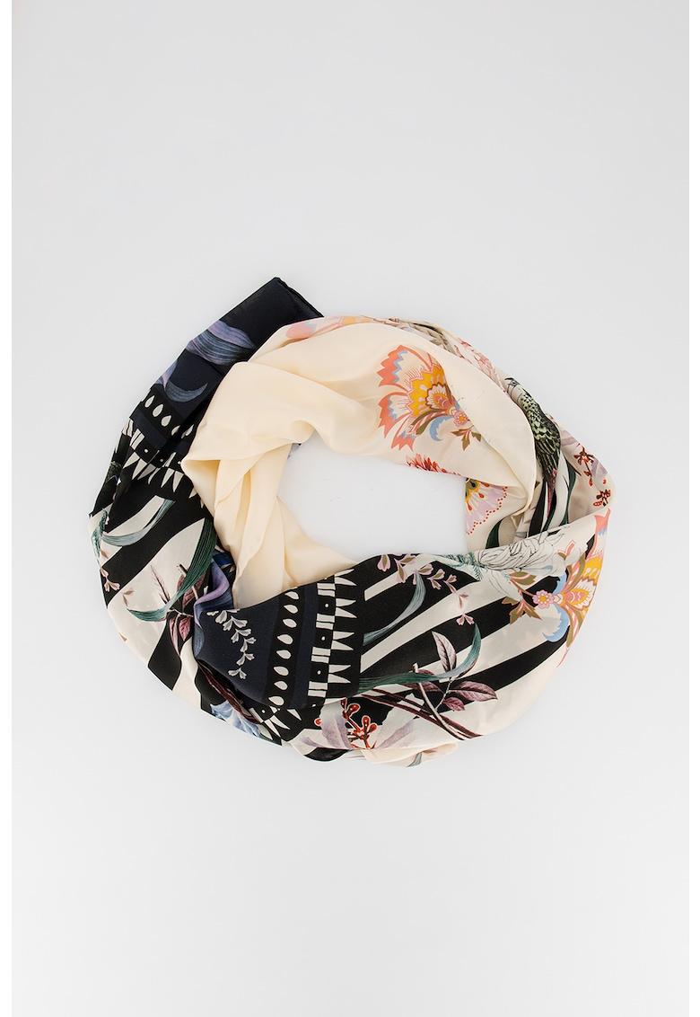 Esarfa din matase cu imprimeu floral Dyanna imagine fashiondays.ro 2021