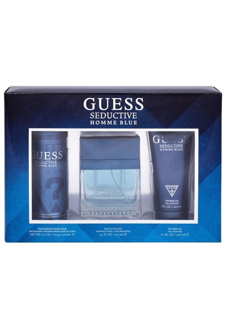 Guess Set  Seductive Homme Blue - Barbati: Apa de Toaleta - 100 ml + Gel de dus - 200 ml + Deodorant Spray - 226 ml
