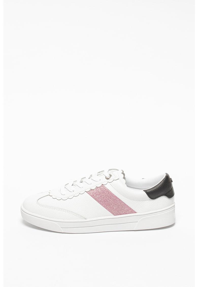 Pantofi sport din piele cu insertii stralucitoare Allva