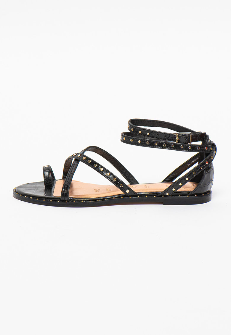 Sandale din piele cu nituri Mathar