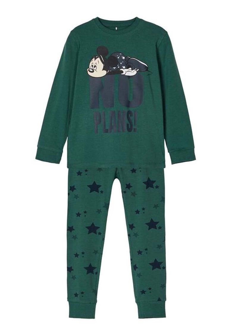 Pijama din amestec de bumbac organic cu imprimeu fashiondays.ro