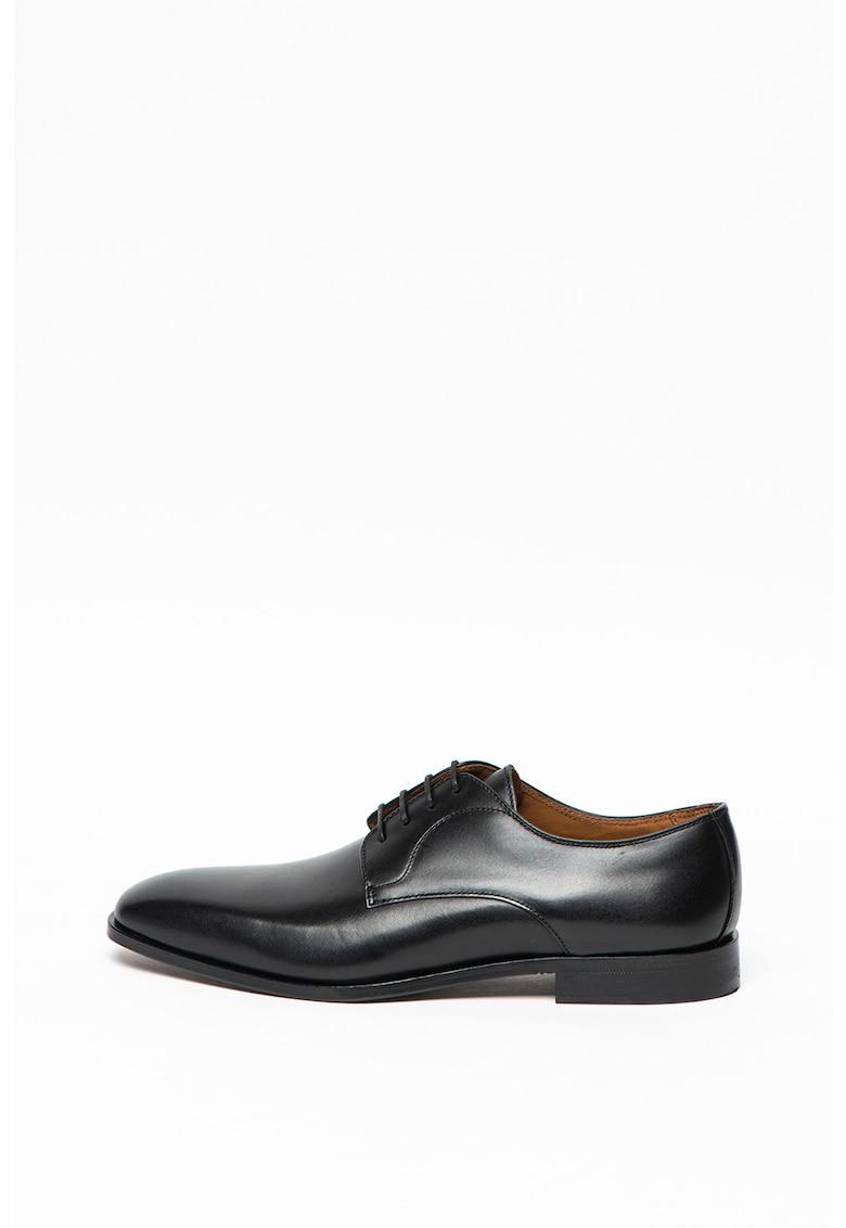 Pantofi Derby de piele cu talpa de piele