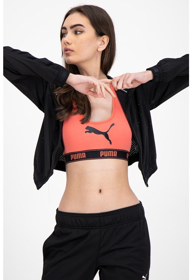 Jacheta crop cu gluga - pentru fitness Be Bold