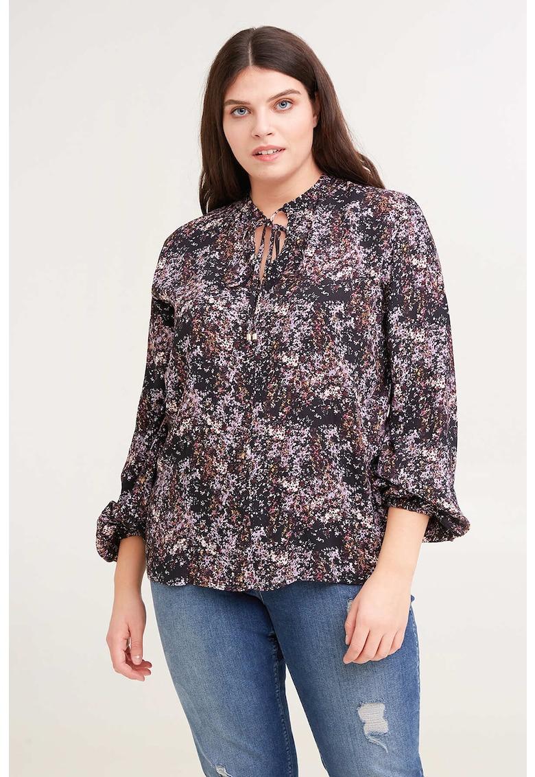 Bluza tip tunica cu imprimeu floral