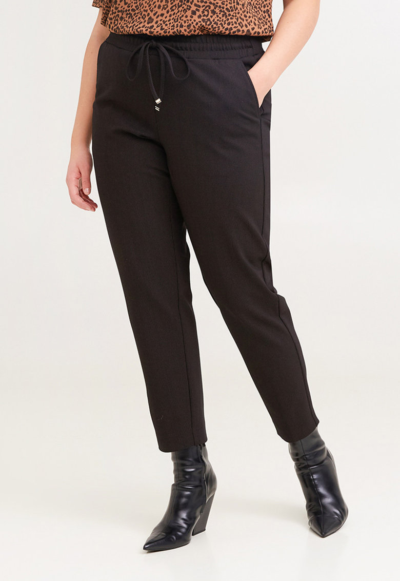 Pantaloni drepti cu snur imagine