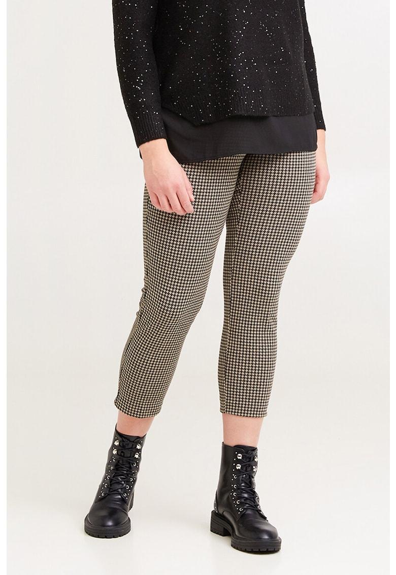 Pantaloni crop cu imprimeu imagine