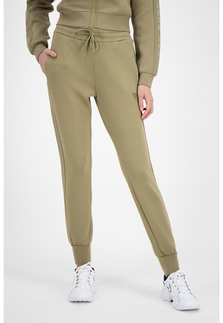 Pantaloni de casa cu garnituri laterale cu logo poza fashiondays