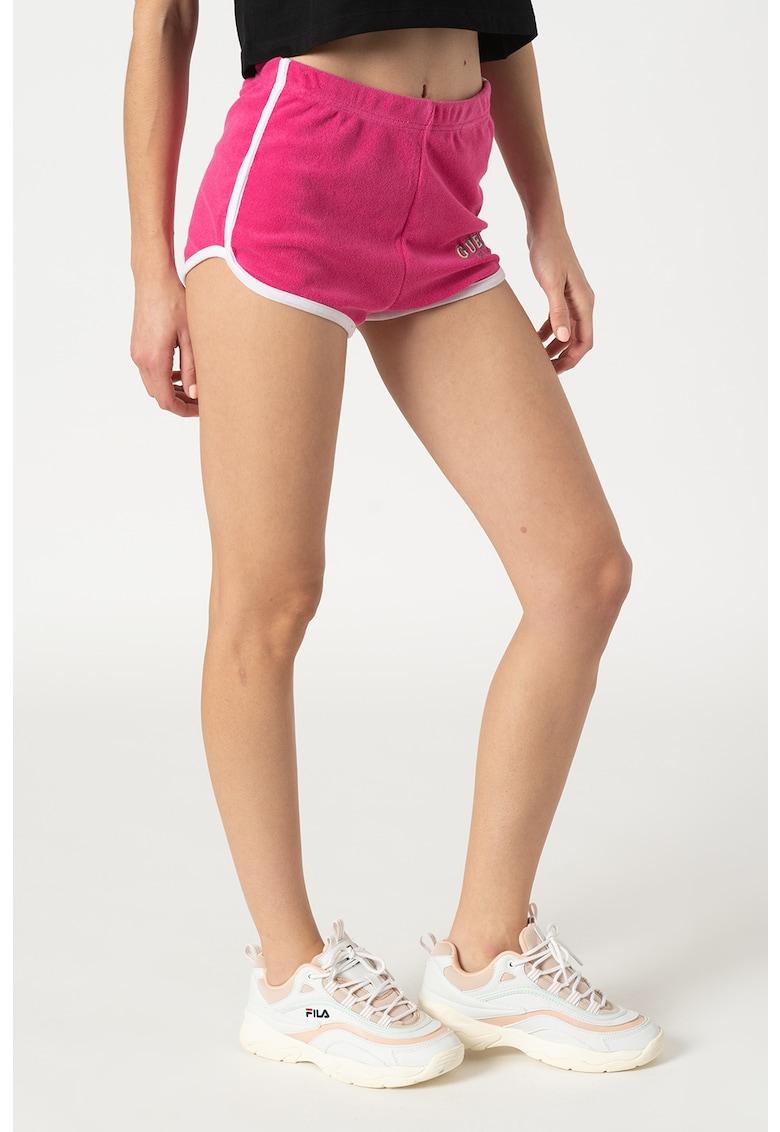 Pantaloni scurti din material terry cu terminatie rotunjita