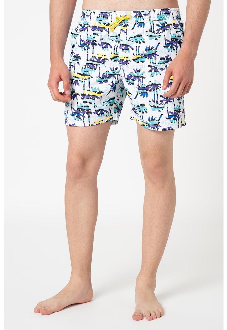 Pantaloni scurti de baie cu imprimeu grafic