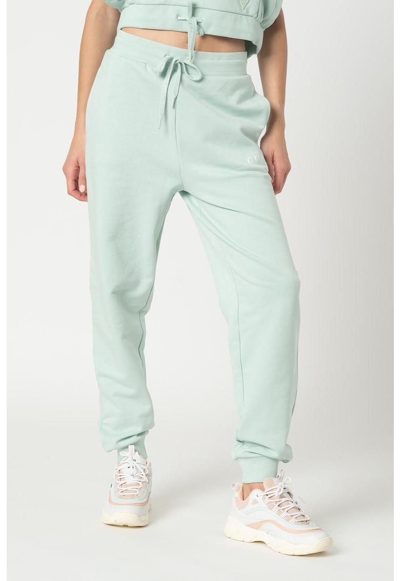Guess Pantaloni sport cu croiala conica si snur de ajustare in talie - pentru fitness