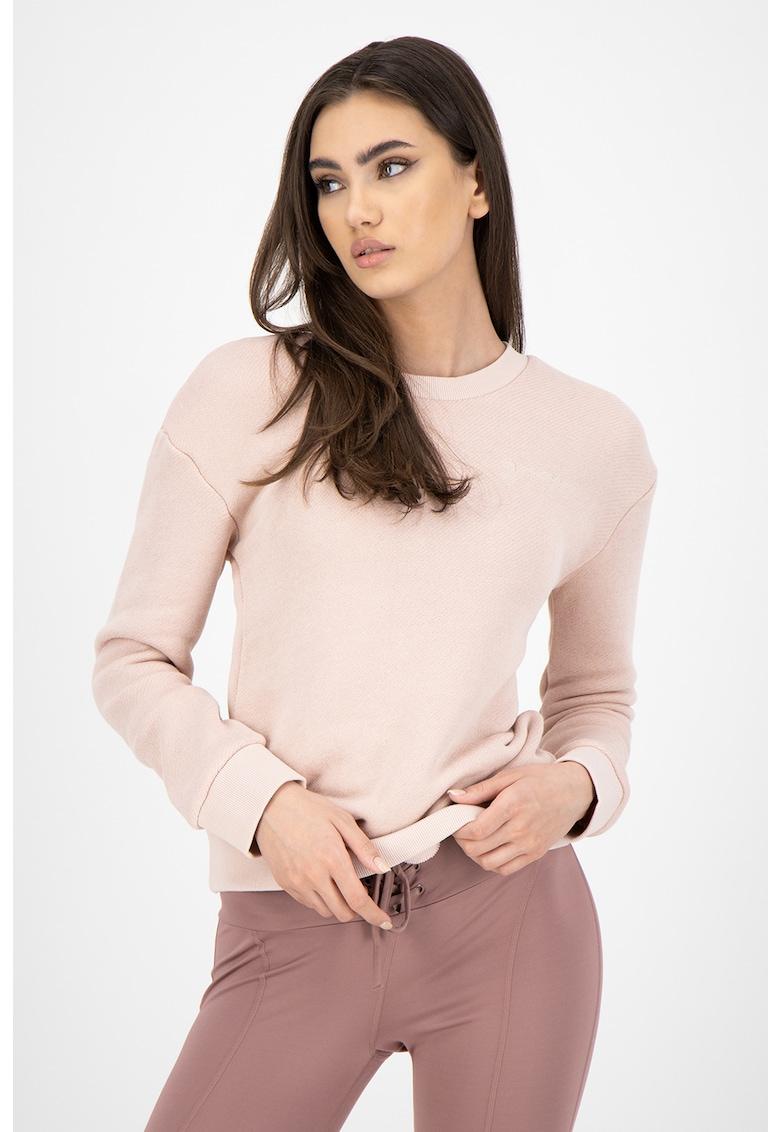 Bluza sport de casa cu maneci cazute imagine fashiondays.ro Guess