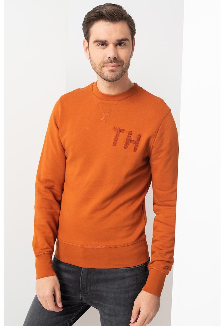 Bluza sport cu detaliu logo texturat imagine