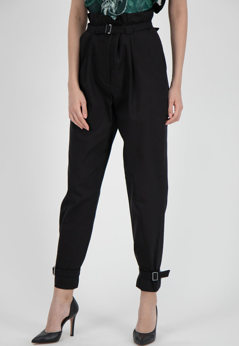 Pantaloni conici cu talie inalta imagine promotie