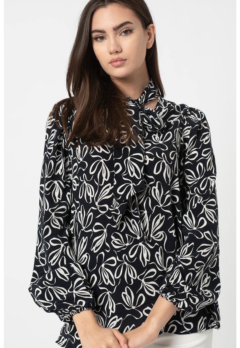 Bluza cu funda din panglici Caarina