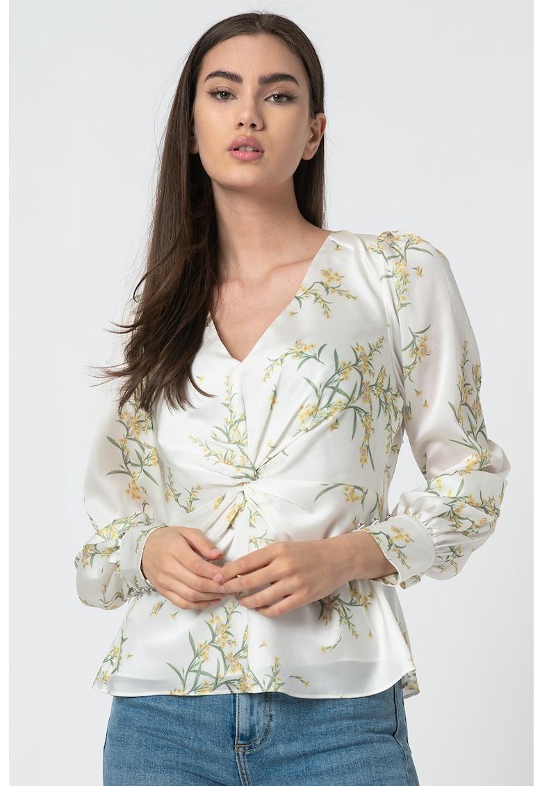 Bluza cu imprimeu floral si decolteu in V Philiis