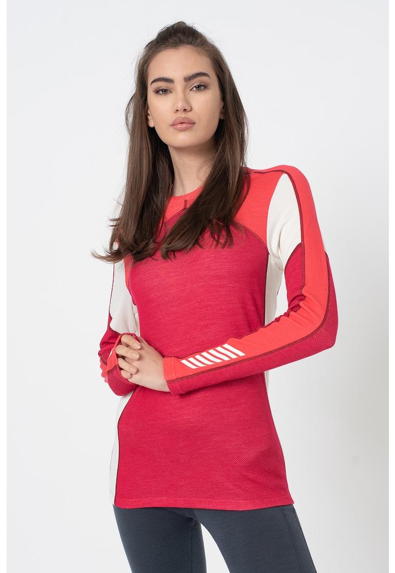Bluza regular fit de lana merino - cu model colorblock pentru ski Lifa imagine
