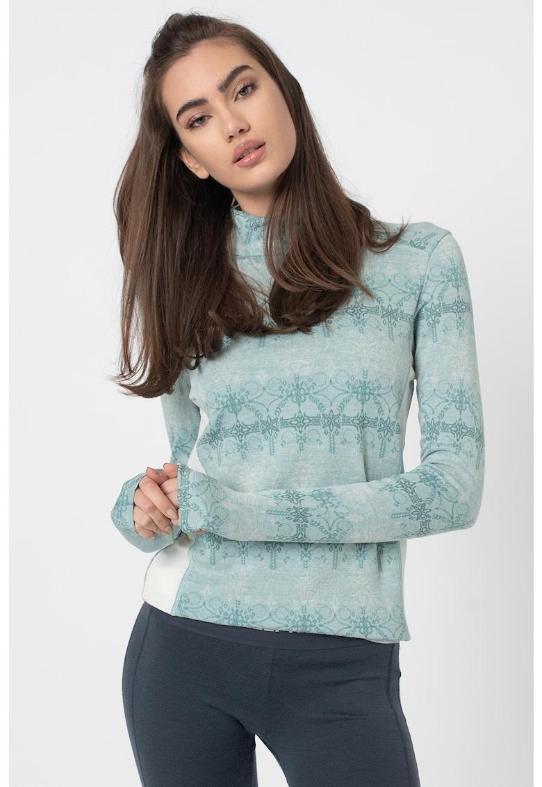 Bluza termica relaxed fit - din lana merino - pentru ski imagine