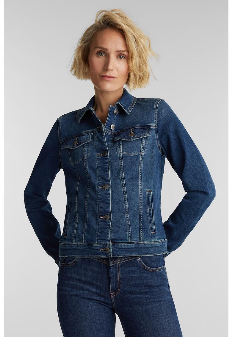 Jacheta tailored fit din denim