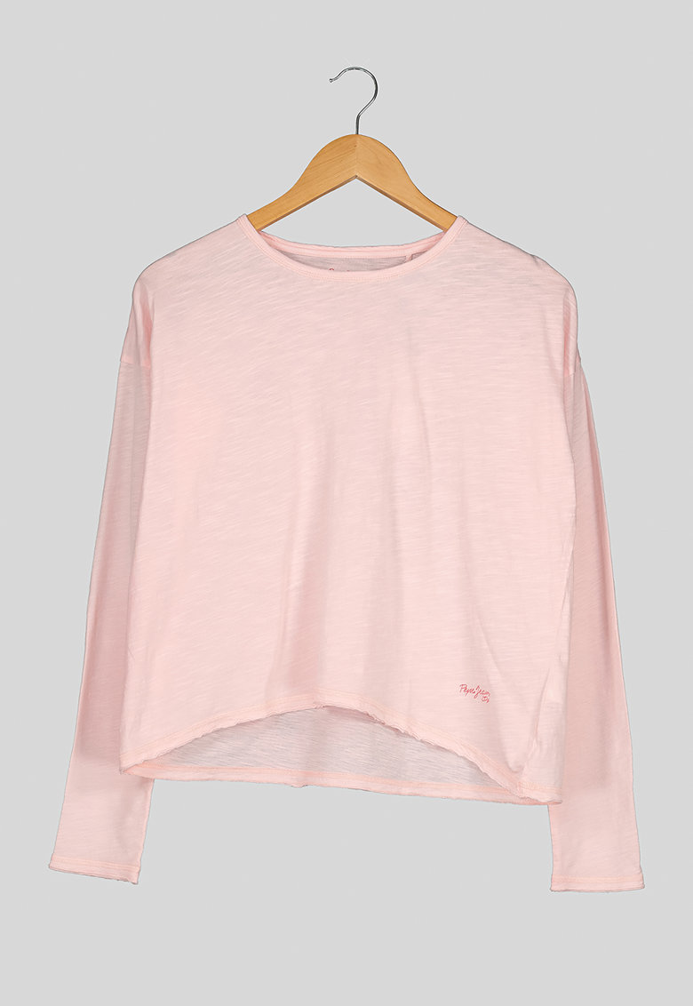 Bluza din jerseu cu terminatie asimetrica imagine fashiondays.ro