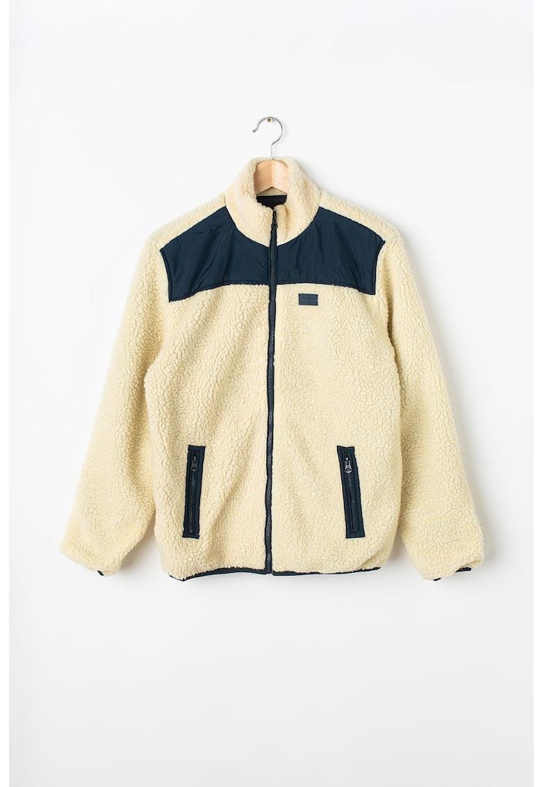 Jacheta cu fermoar - din material teddy Nao