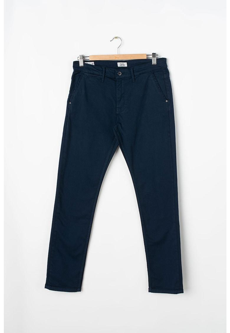 Pantaloni chino conici din amestec de modal Greenwich imagine