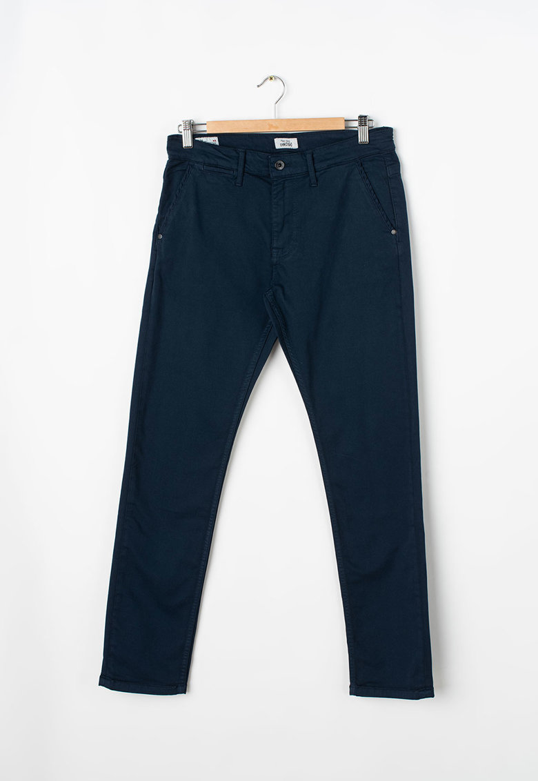 Pantaloni chino conici din amestec de modal Greenwich poza fashiondays