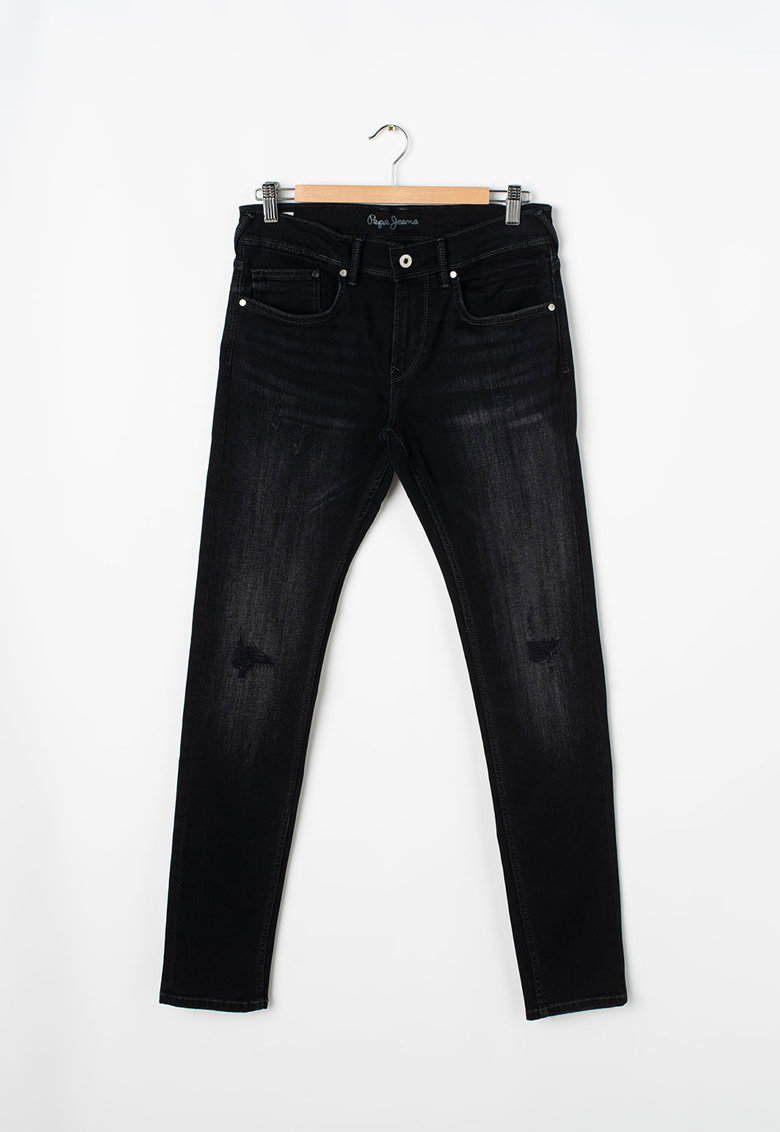 Pepe Jeans London Blugi cu detalii deteriorate Finly