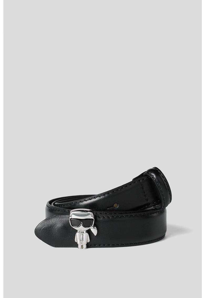 Karl Lagerfeld Curea din piele cu catarama cu nit K/Ikonik