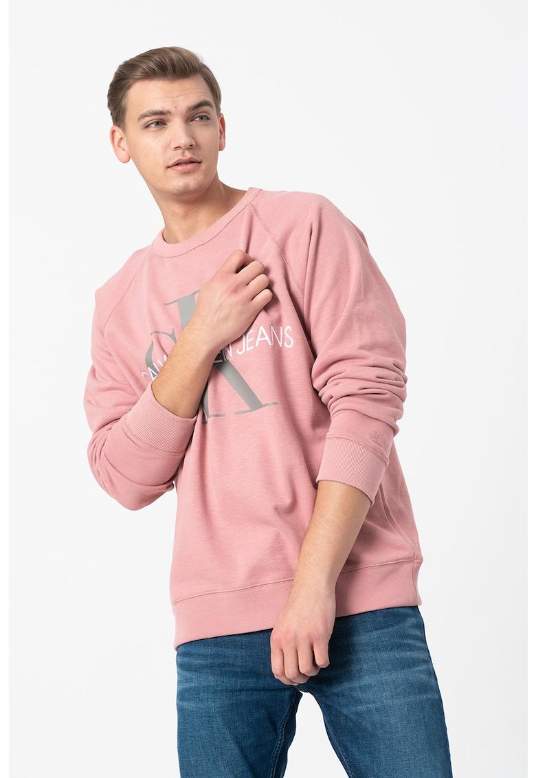 Bluza sport din bumbac organic cu imprimeu logo 3 de la CALVIN KLEIN JEANS