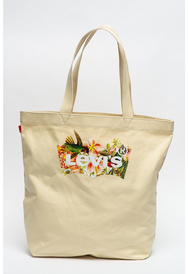 Geanta tote de panza cu imprimeu tropical imagine fashiondays.ro
