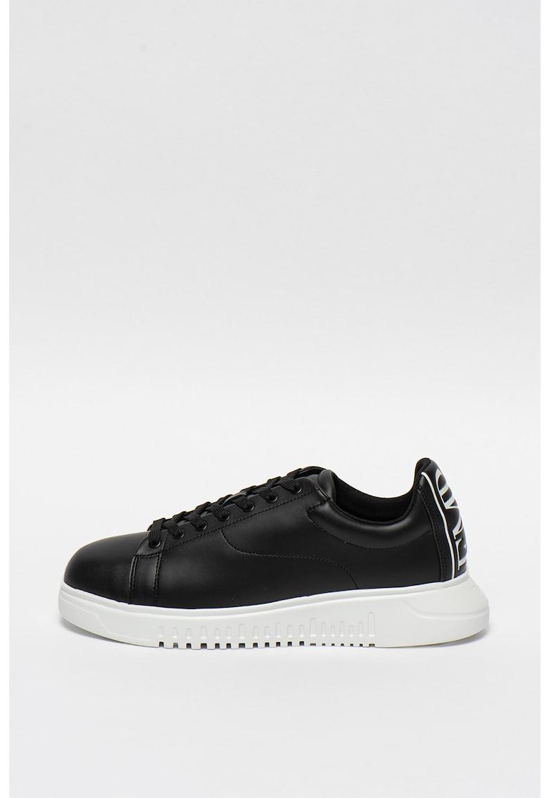 Pantofi sport cu varf rotunjit si logo pe partea din spate imagine