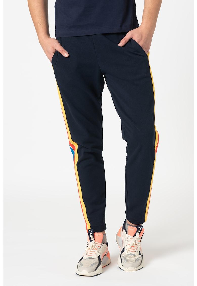 Pantaloni sport cu benzi laterale contrastante imagine