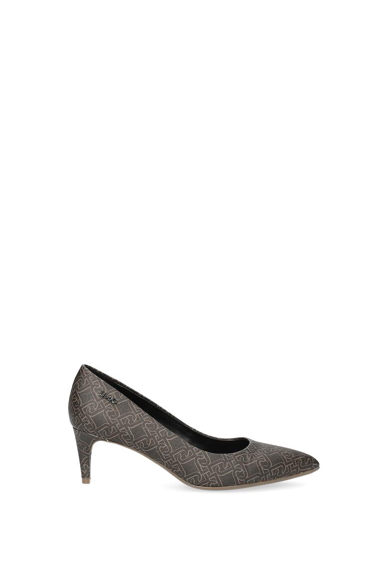 Pantofi din piele ecologica cu varf ascutit