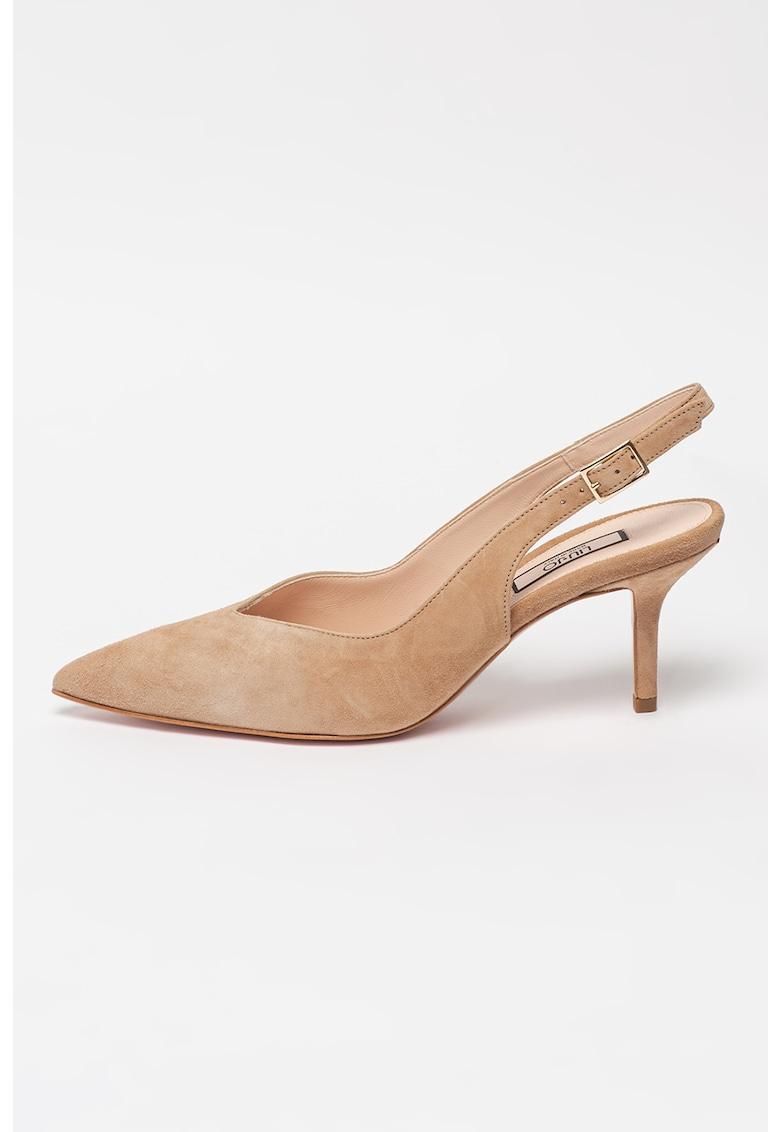 Pantofi slingback din piele intoarsa Audrey