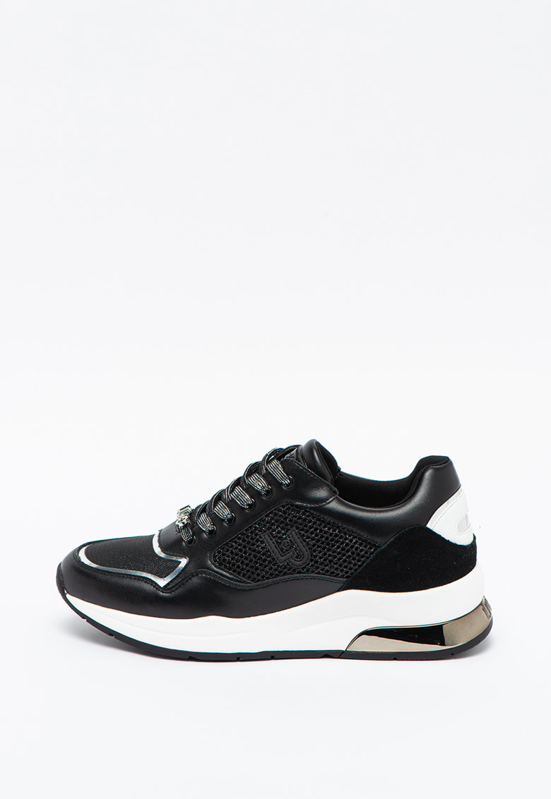 Pantofi sport cu insertii din plasa si piele intoarsa Karlie 51