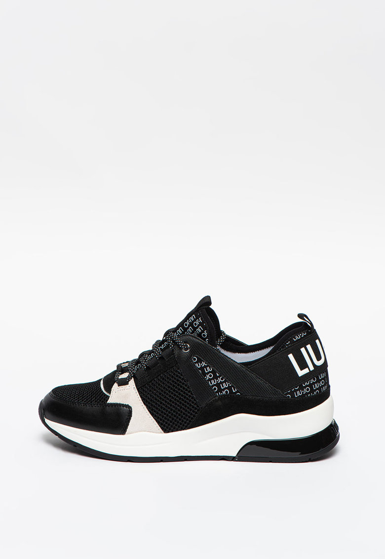 Pantofi sport wedge de plasa si piele intoarsa Karlie 55