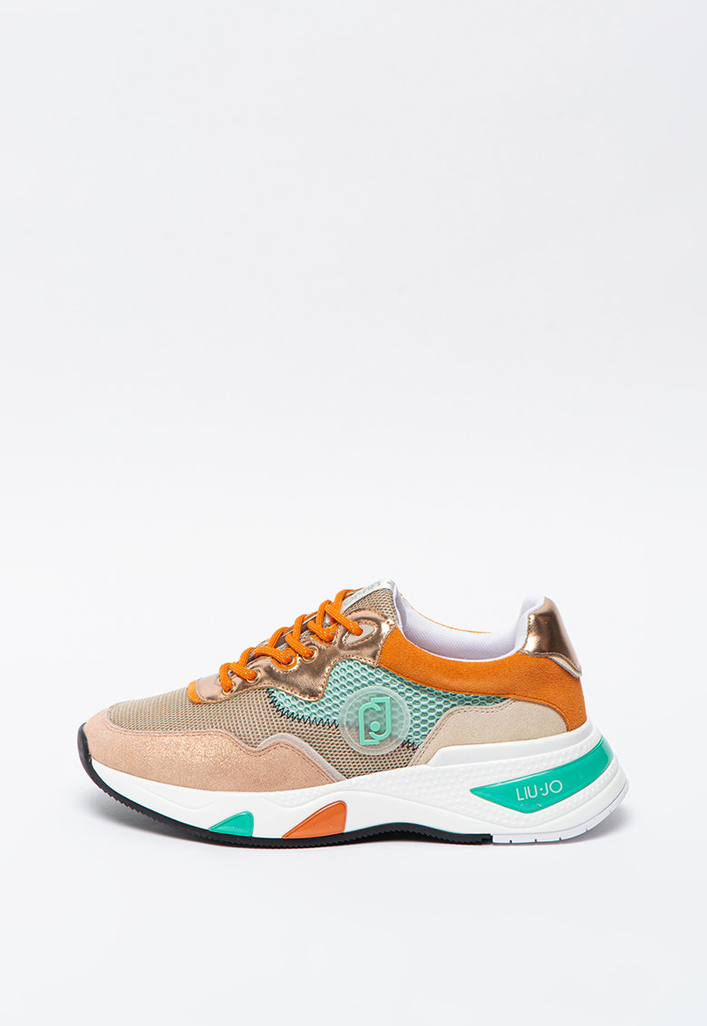 Pantofi sport din piele intoarsa cu insertii din plasa Hoa
