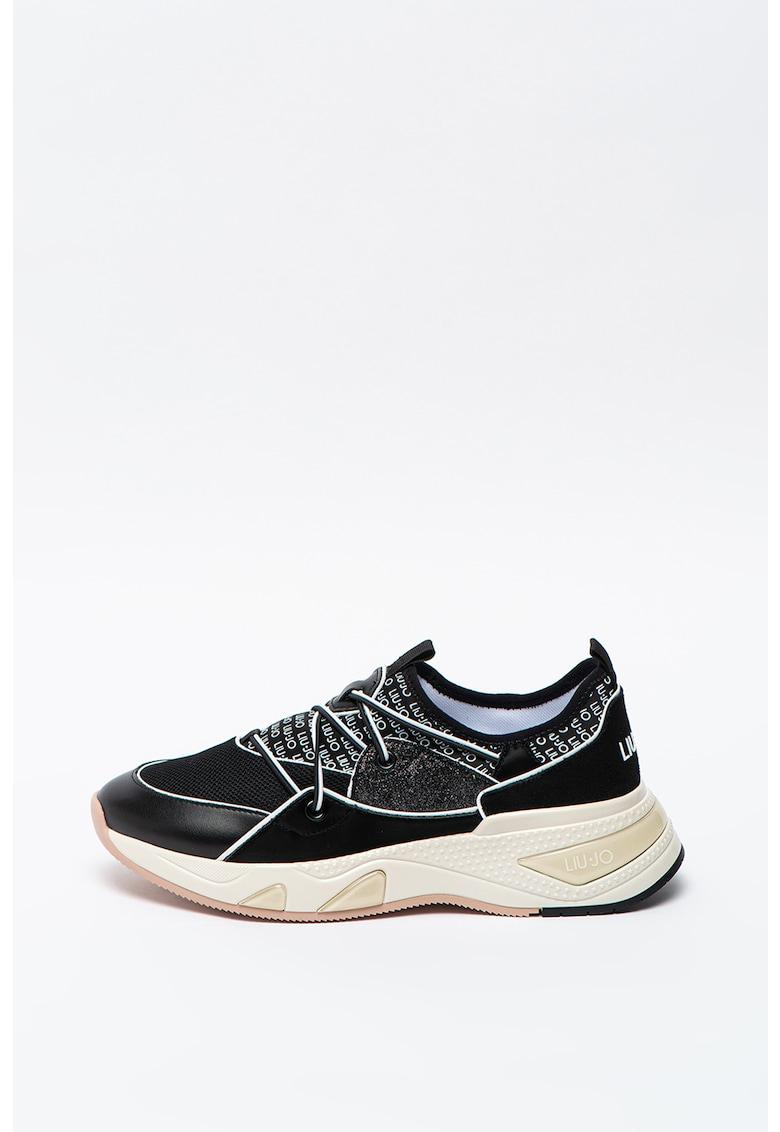 Pantofi sport slip-on cu insertii din plasa Hoa