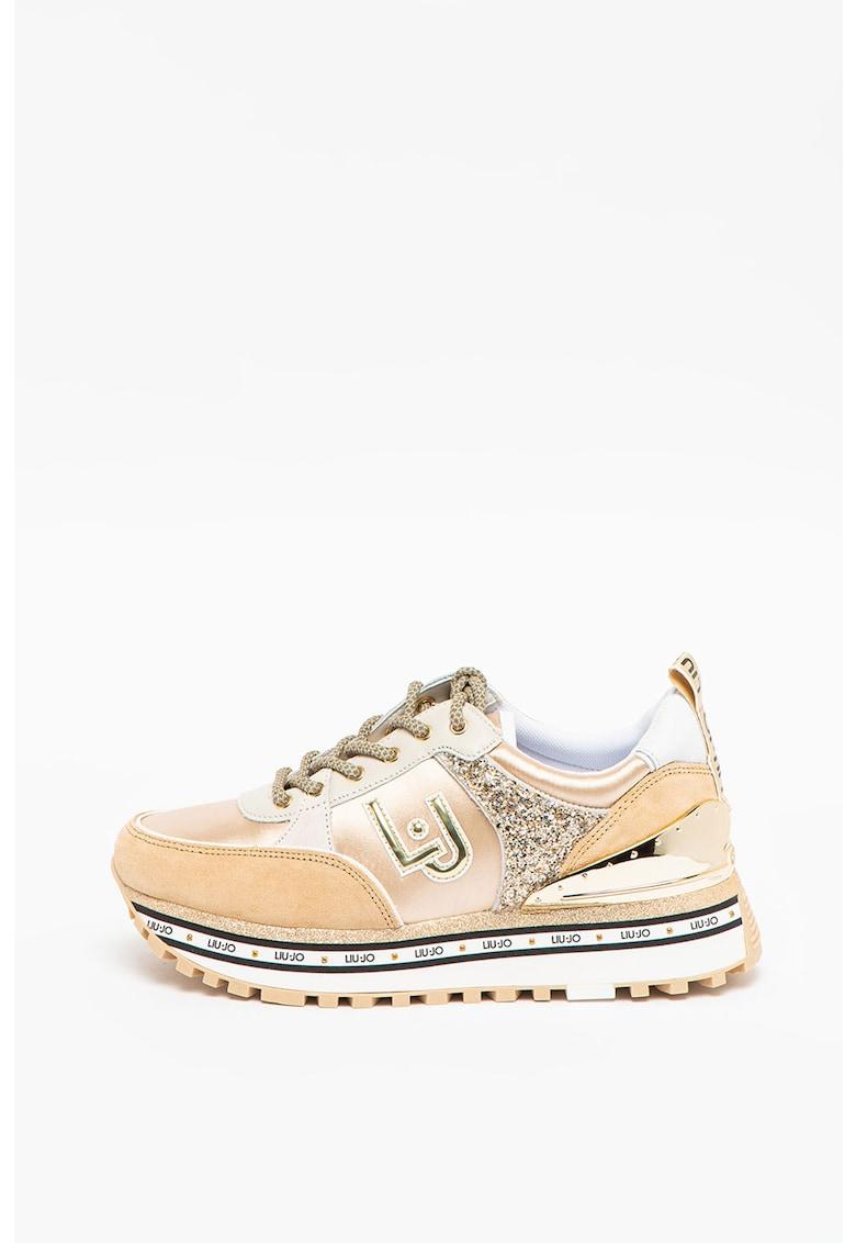 Pantofi sport cu garnituri stralucitoare Maxi Wonder