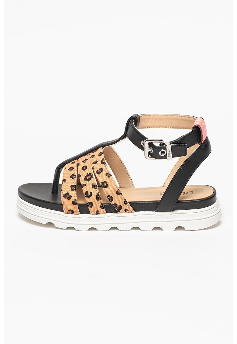 Sandale cu garnituri cu imprimeu