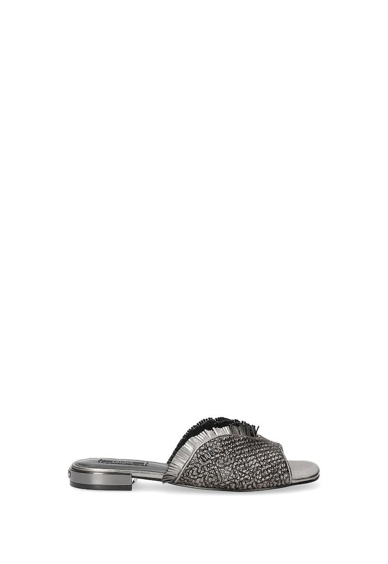 Sandale slip-on cu garnitura cu franjuri imagine fashiondays.ro 2021
