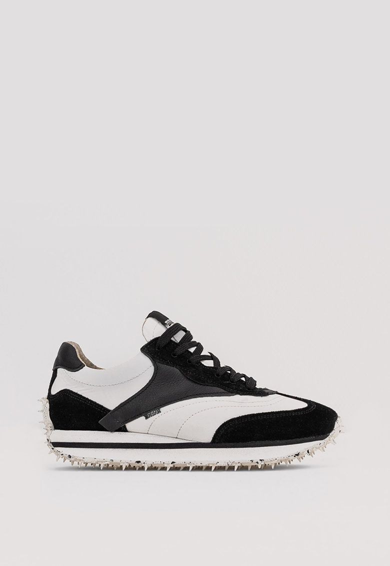 Pantofi sport colorblock cu garnituri de piele si piele intoarsa Ma-Trixx