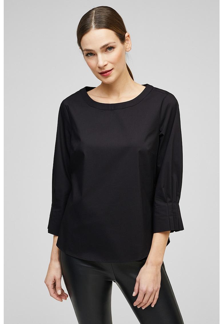 Bluza de poplin cu detaliu plisat pe spate