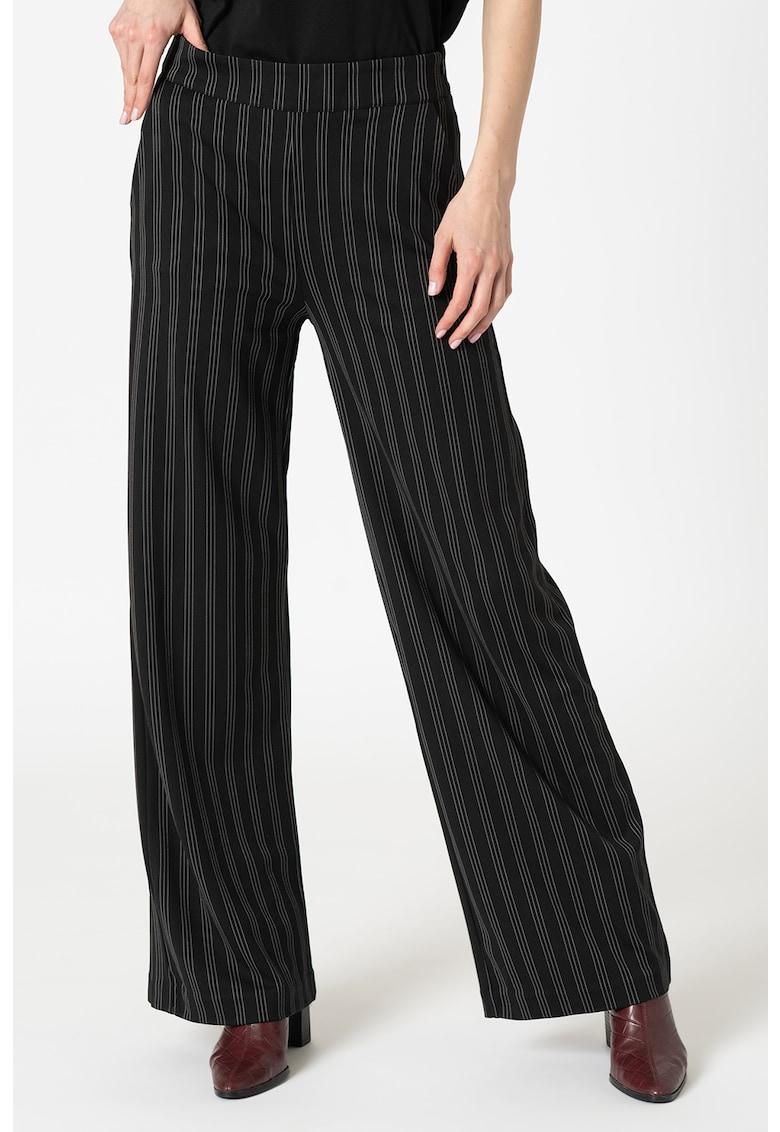 Pantaloni drepti cu dungi ICHI imagine 2021