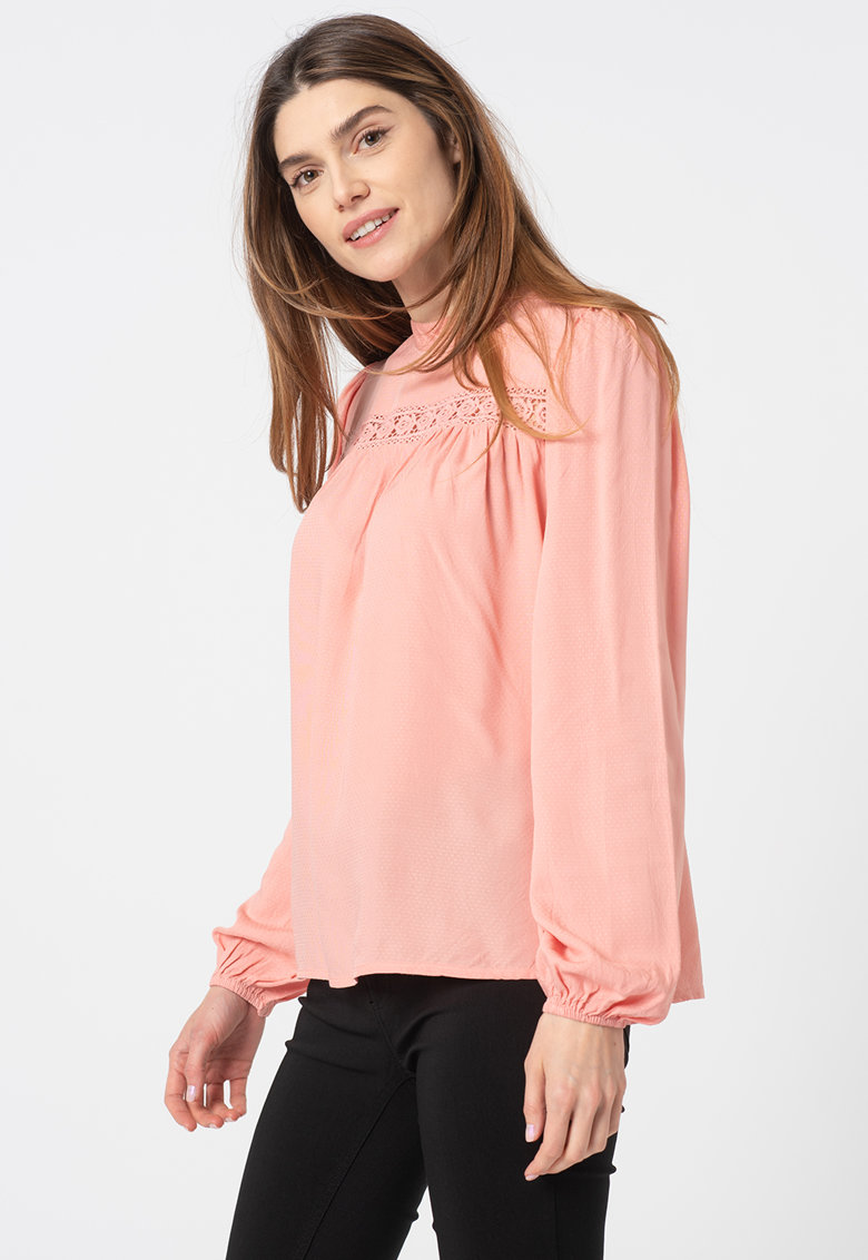 Bluza tip tunica cu detaliu crosetat Imo