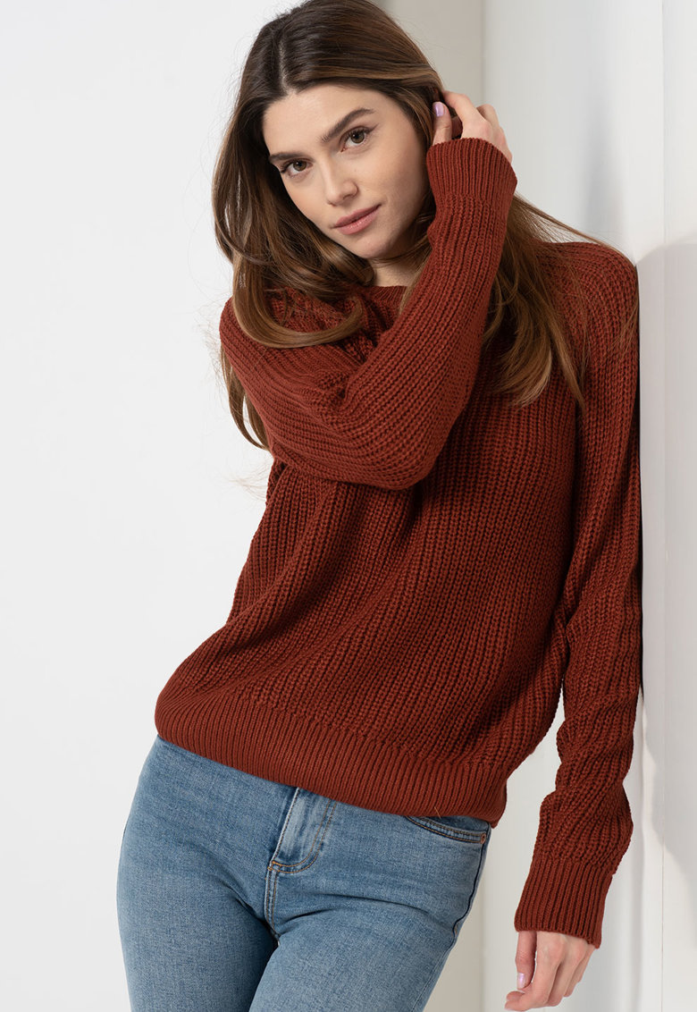 Pulover relaxed fit cu maneci raglan imagine fashiondays.ro