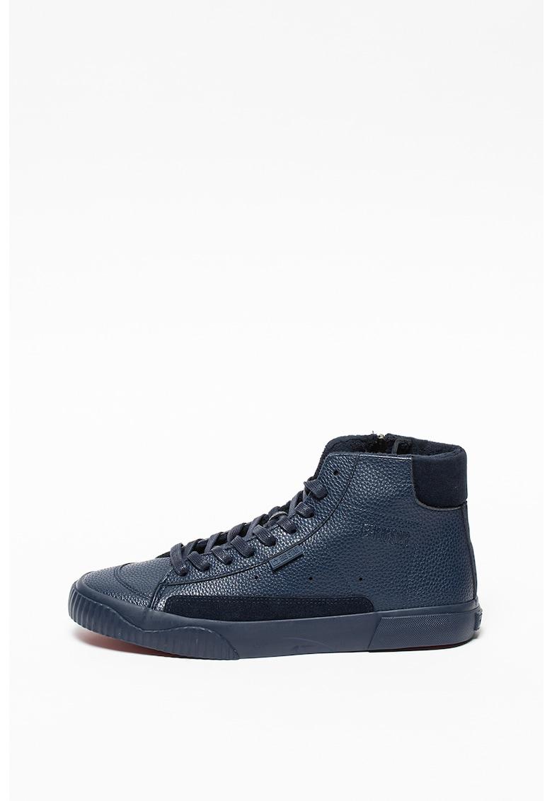Pantofi sport mid-cut din piele ecologica