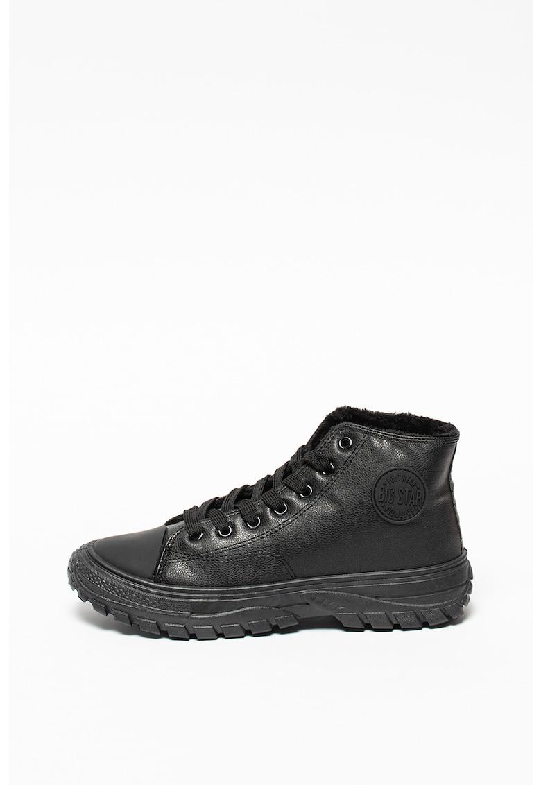 Pantofi sport din piele ecologica cu captuseala din blana sintetica imagine fashiondays.ro