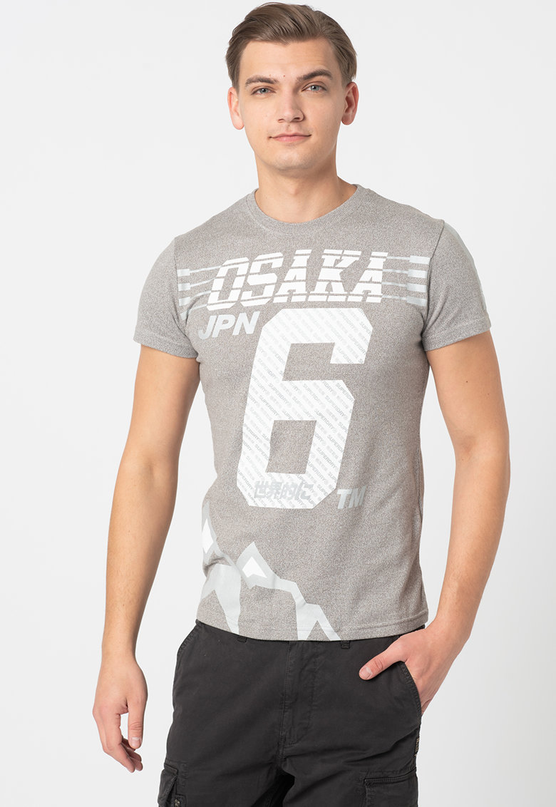 Tricou slim fit cu imprimeu Osaka Bărbați imagine