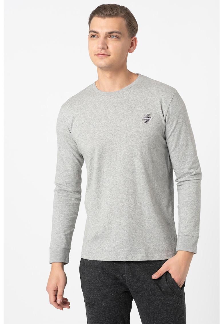 Bluza cu decolteu la baza gatului si logo discret